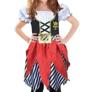Girls 5/6 Pirate Buccaneer Princess Kids Costume